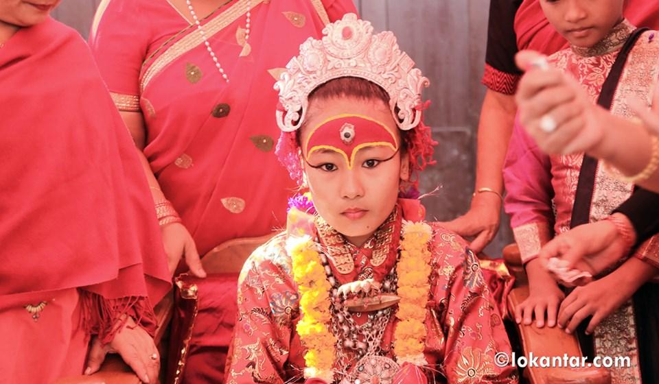 जीवित देवी कुमारीबाट मख: ट्वाको उद्घाटन यस्तो देखियो [फोटो फिचर]