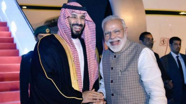 साउदी युवराजलाई स्वागत गर्न विमानस्थल पुगे मोदी