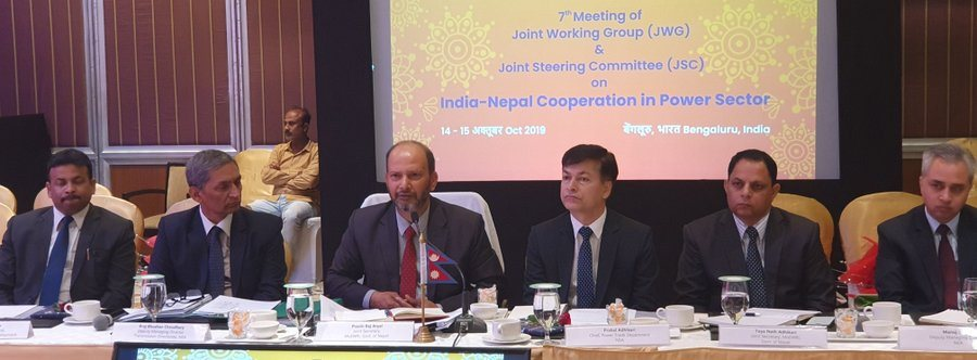 नेपाल-भारत उर्जा कार्यदलमा अरुण तेस्रोको चर्चा, थप प्रसारण लाइन बनाउन भारतीय पक्ष लचक