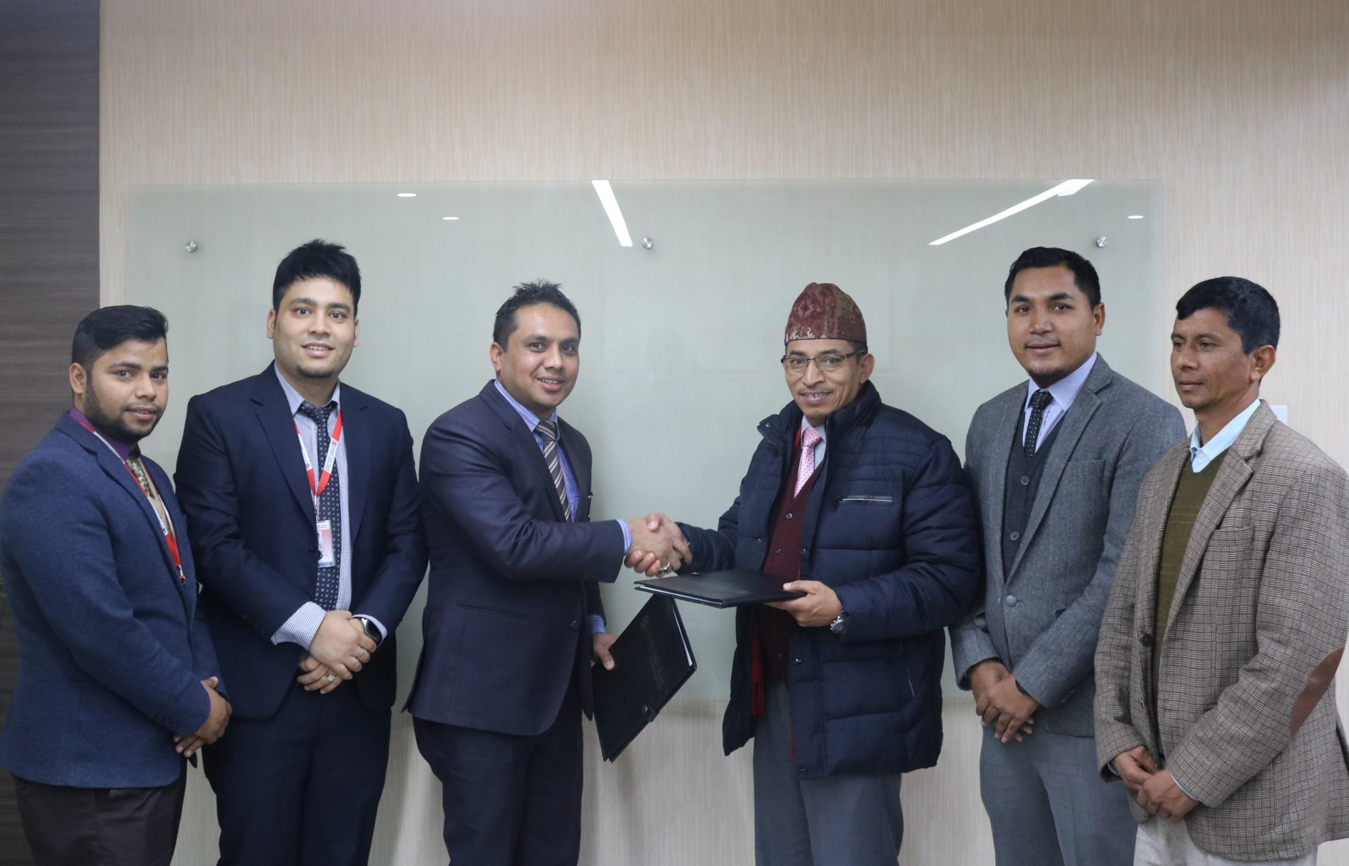 ग्लोबल आईएमई बैंक लिमिटेड र काठमाडौं भ्याली हस्पिटल प्रालिबीच सम्झौता