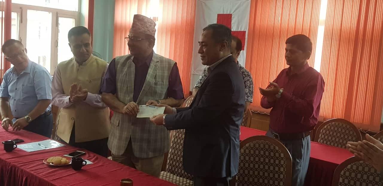 नेपाल इन्भेष्टमेन्ट बैंक र  रेडक्रस सोसाइटीबीच सहमतिपत्रमा हस्ताक्षर