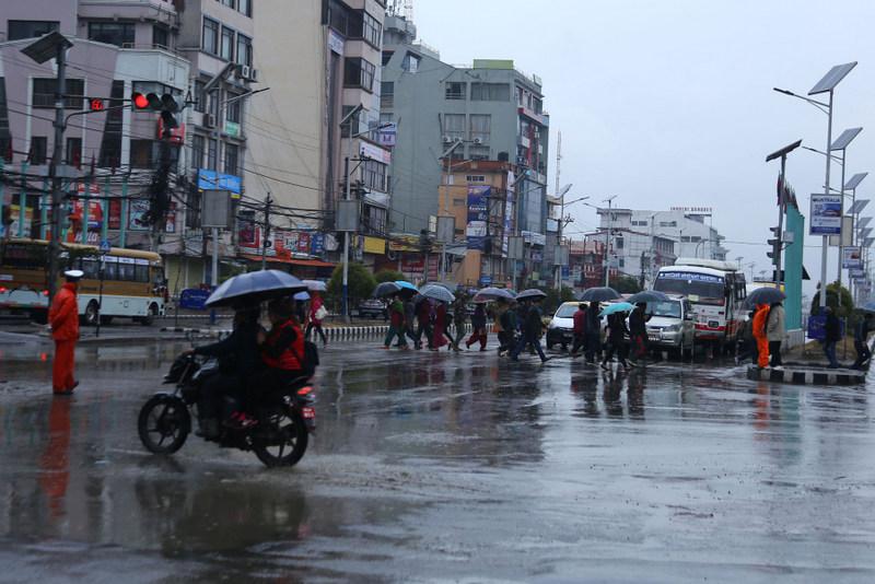 काठमाडौंमा ३ दिन भारी वर्षाको सम्भावना