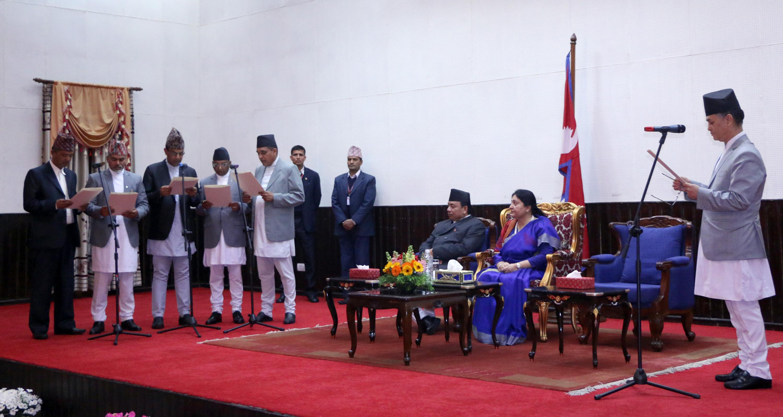 पाँच आयोगमा अध्यक्षको नियुक्ति, प्रधानन्यायधीश जबराबाट शपथ