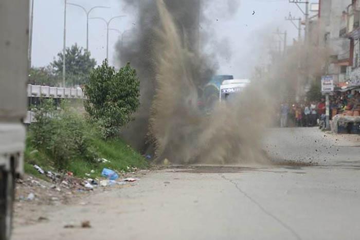 बिहानै वडा कार्यालयमा बम विष्फोट