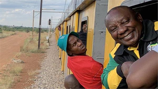 दक्षिण अफ्रिकाका राष्ट्रपति परे घन्टौंको ट्रेन जाममा