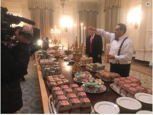 सरकारी कामकाज ठप्प भएपछि ट्रम्पले मगाए म्याकडोनल्डको बर्गर