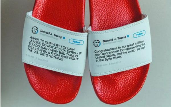 ट्रम्पका ट्वीट चप्पलमा छापेर करोडपति बने यी व्यक्ति
