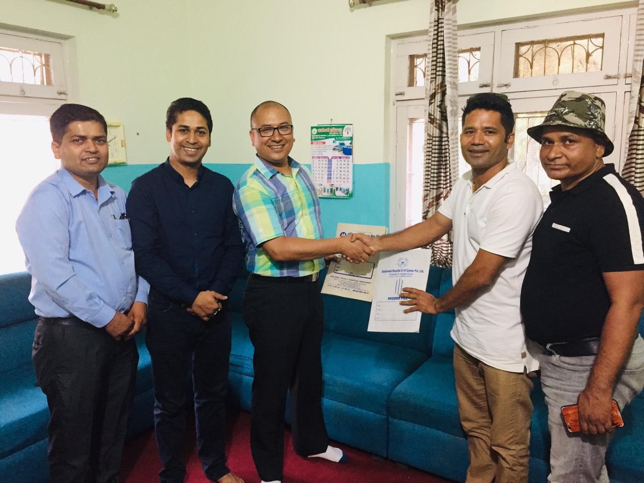 मुक्तिनाथ विकास बैंक र विराटनगरस्थित सञ्जिवनी हस्पिटल र विराट आँखा हस्पिटलबीच सहकार्य